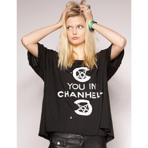UNIF see you in chanhell Distressed Tshirt